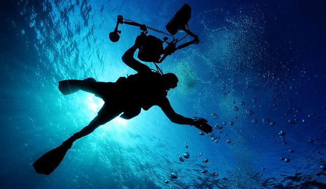 Diving in the Mediterranean sea
