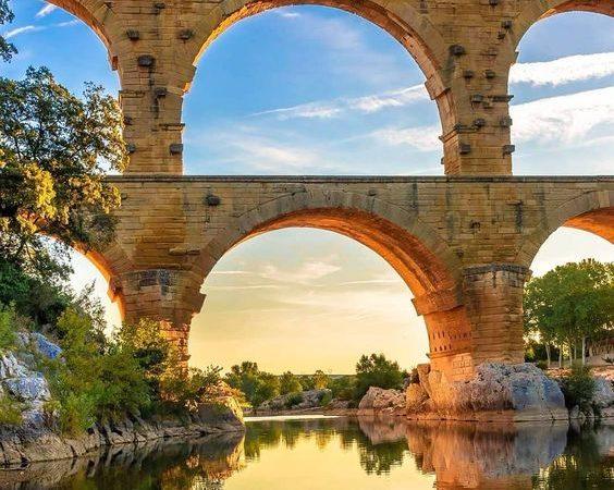 Pont du Gard - Ardèche - Coucher de soleil
